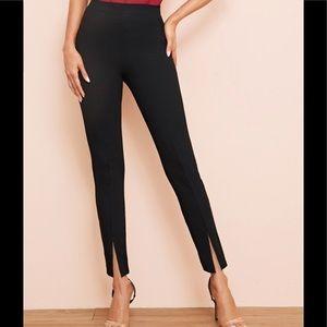 Pants - NWOT High waist cropped split front dress pants